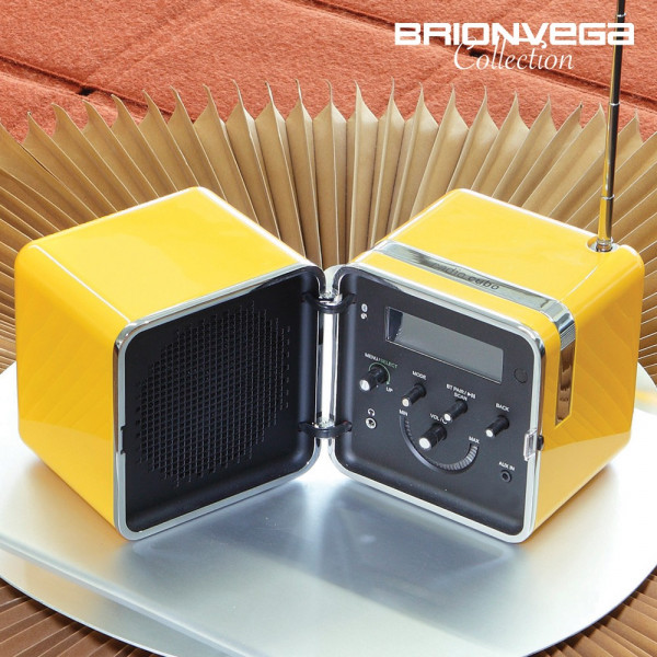 BRIONVEGA RADIO CUBO TS522D+S YELLOW LIMITED EDITION