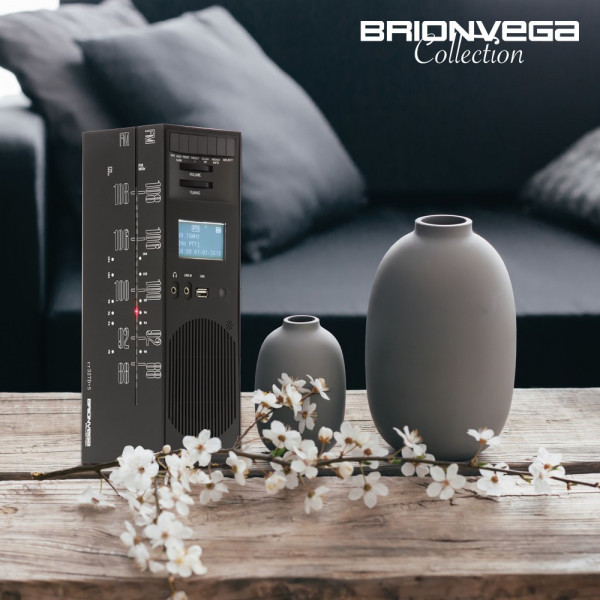 BRIONVEGA RADIO GRATTACIELO RR327D+S BLACK NIGHT