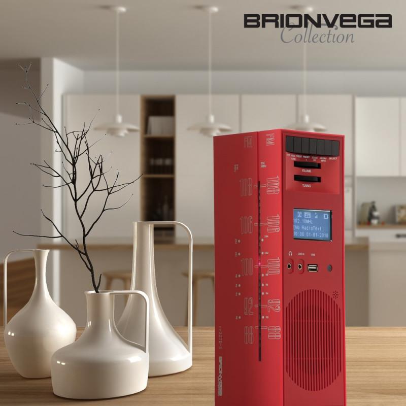 BRIONVEGA RADIO GRATTACIELO RR327D+S RED