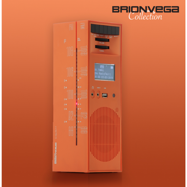 BRIONVEGA RADIO GRATTACIELO RR327D+S ARANCIO SOLE