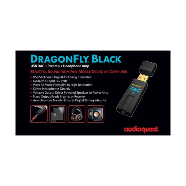 AUDIOQUEST DRAGONFLY BLACK